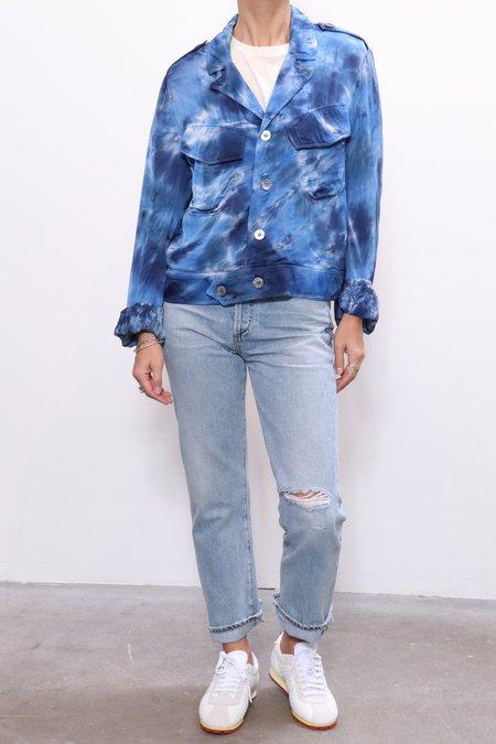 Raquel Allegra Cargo Jacket - Sea Tie Dye