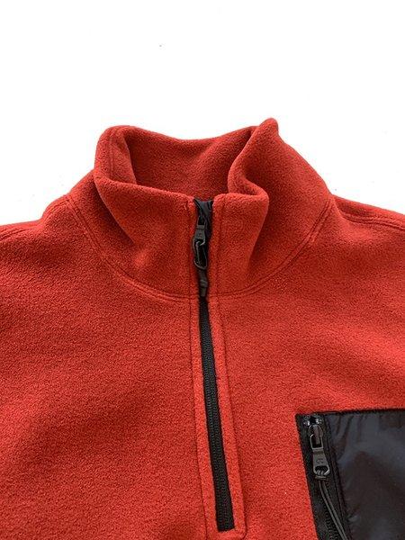Champion Premium Reverse Weave Polartec Half Zip Top - Scarlet