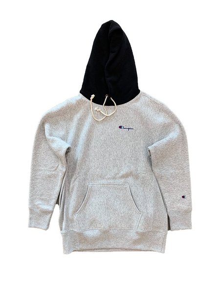 Champion Premium Reverse Weave Reverse Weave Color Block Hoodie - Grey/Black