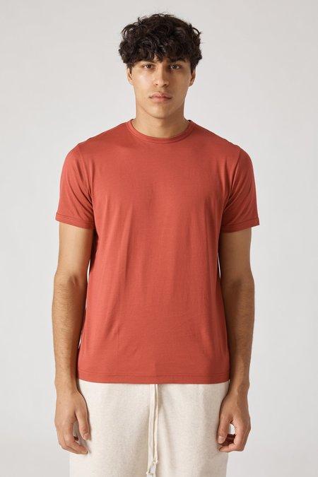 Sunspel Short Sleeve Crew Neck T-Shirt - Scarlet