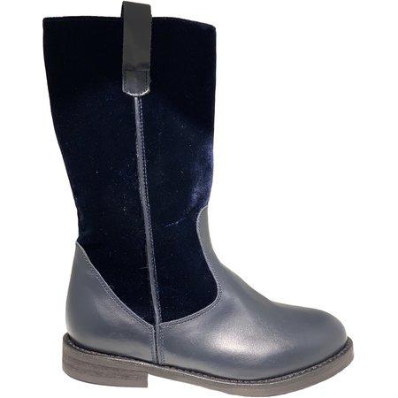 Kids pèpè velluto boots - navy blue