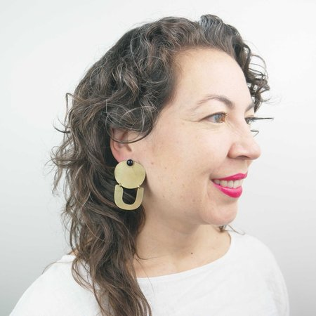 Rebekah J Designs West Stone Earrings - Onyx