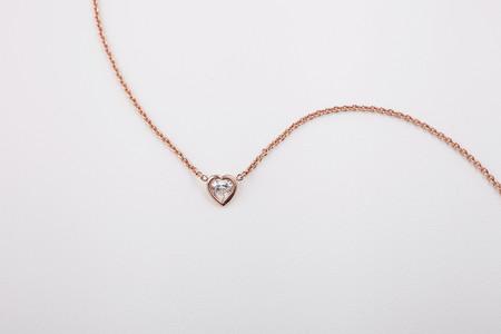 Hortense Je t'aime Necklace - Heart Shape Diamond