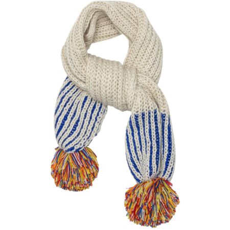 KIDS cabbages & kings ny pom scarf - cobalt/silver sprinkle