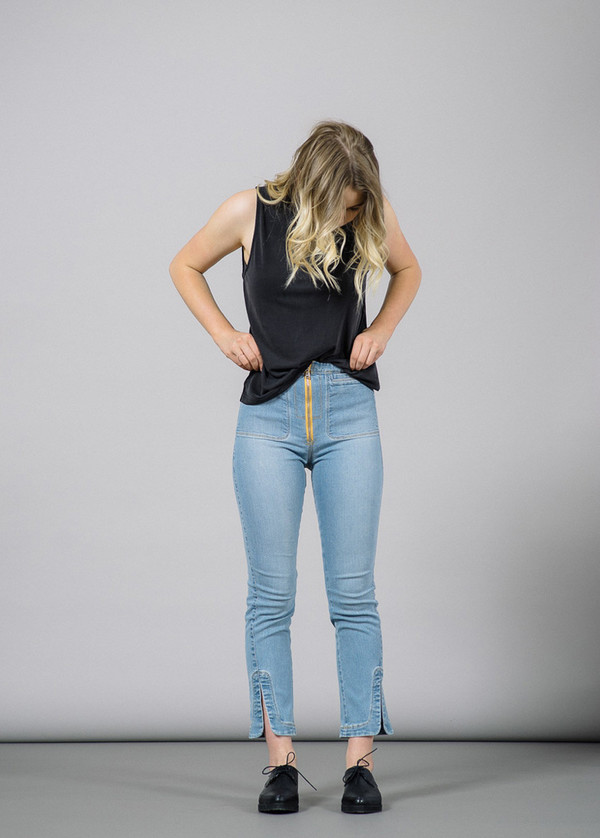 Rachel Comey Maga Cropped Denim Pants