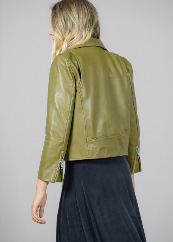 Ganni Passion Biker Leather Jacket