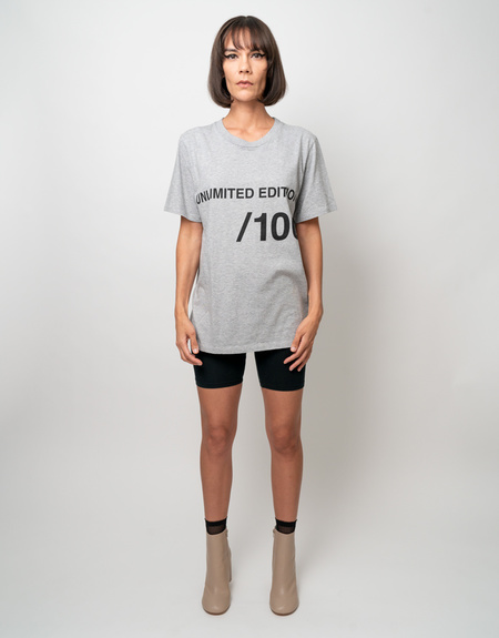 MM6 Maison Margiela Unlimited Edition Tee - Grey Heather