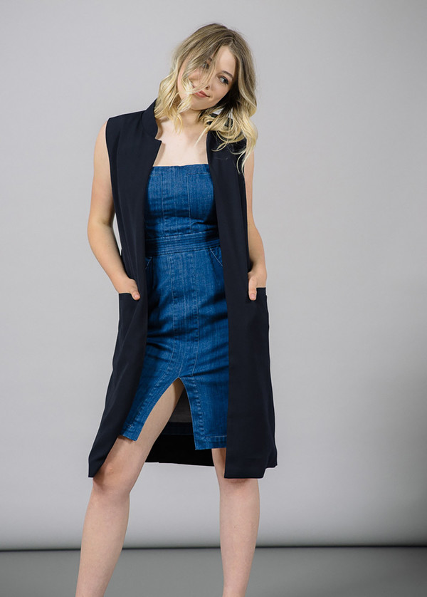 Just Female Town Belted Long Vest