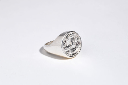 Saint Claude x Freda Basketweave Signet Ring - Silver