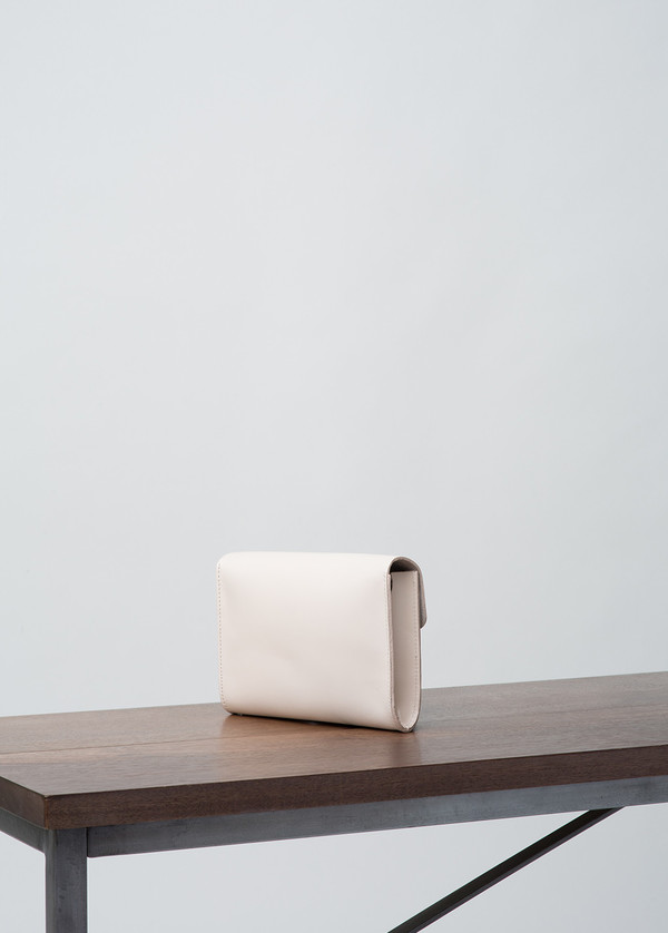 Vere Verto White Mini Mox Convertible Clutch