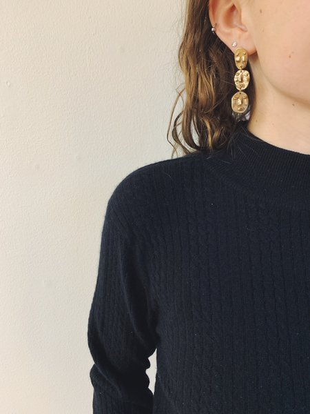 Yu Yu Shiratori Face Drop Earrings - brass