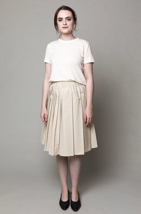Verdalina Pleated Skirt - Ecru
