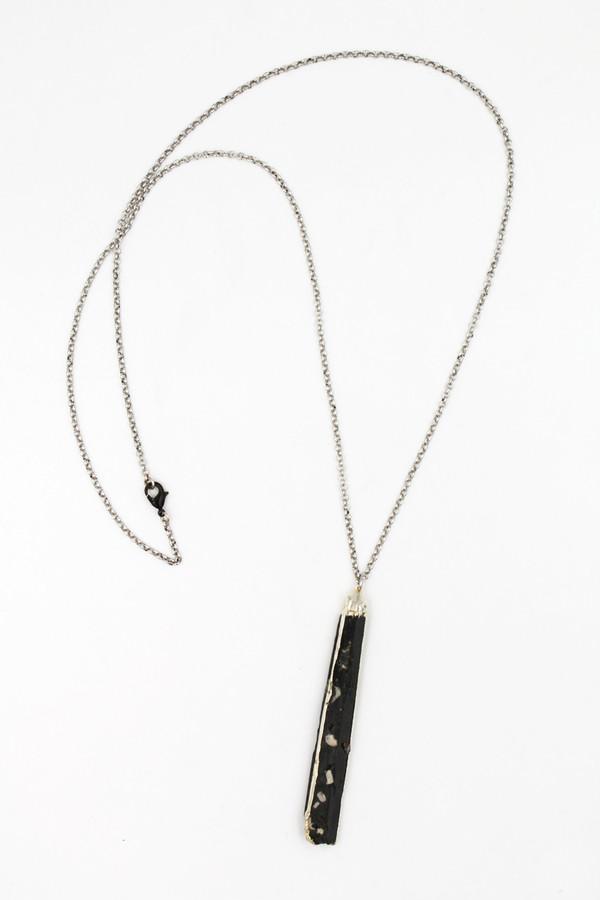 Sheila B Black Selenite Necklace