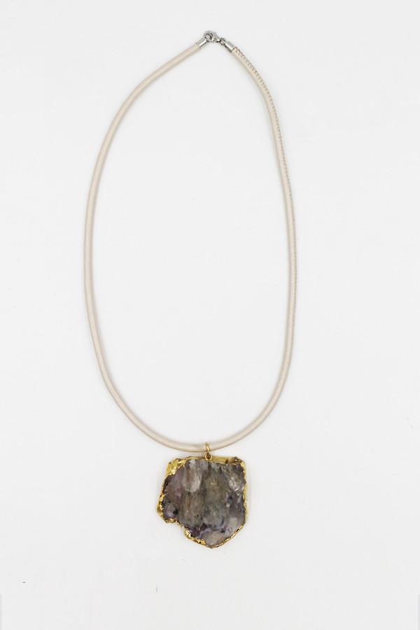 Sheila B Amethyst Flower Necklace