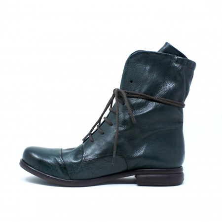 P. Monjo Lace-Up Boots - Green