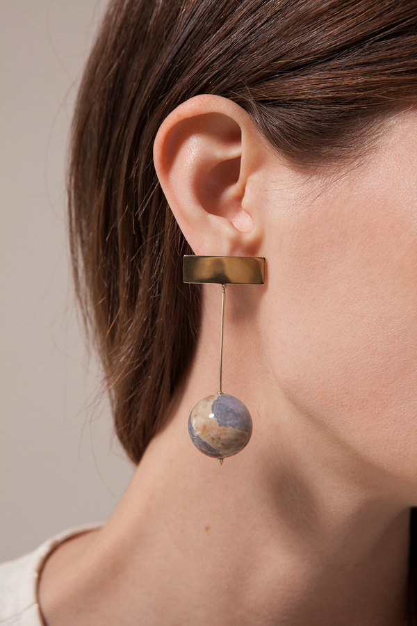Chalcedony Drop Earrings