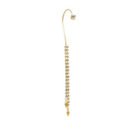 Joomi Lim Crystal & Spike Ear Cuff - Gold/Crystal