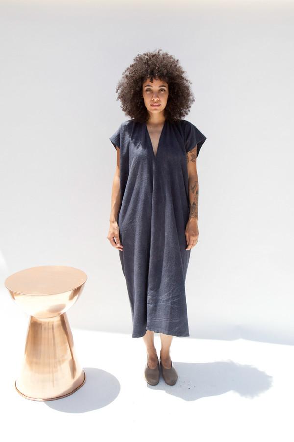 Miranda Bennett In-Stock: Everyday Dress, Oversized, Silk Noil in Coal