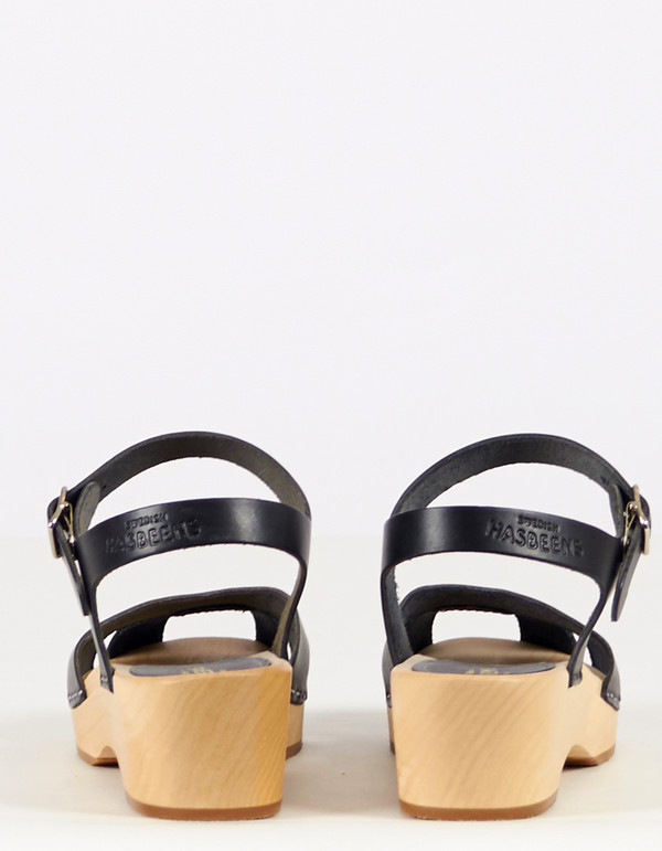 Swedish Hasbeens Suzanne Debutant Clog Black