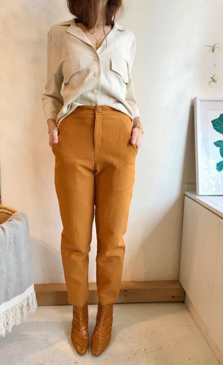 Eve Gravel Get Down Pants - Ochre