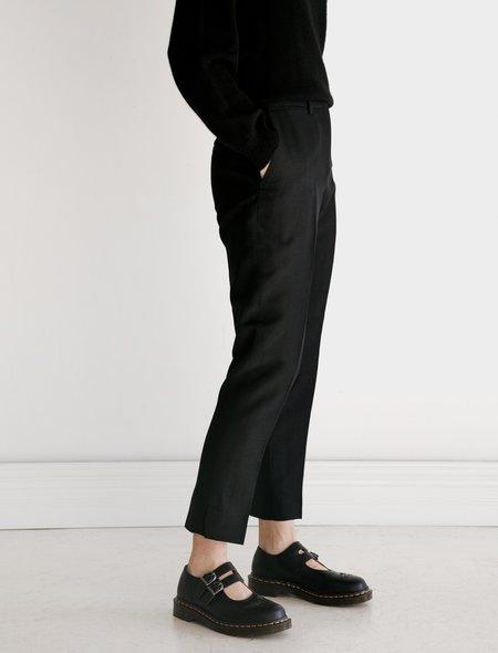 Margaret Howell Midi Waist Crop Wool Linen Hopsack trousers - Ink
