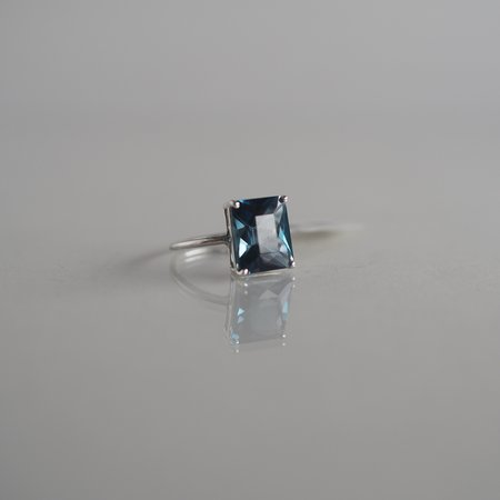 The BEA Line 12x10 Emerald Cut London Blue Topaz Ring