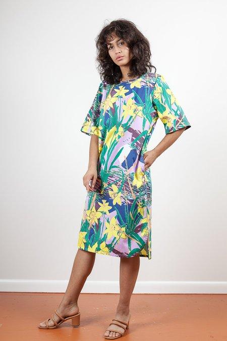 Gravel & Gold Anim Dress - Daffodils