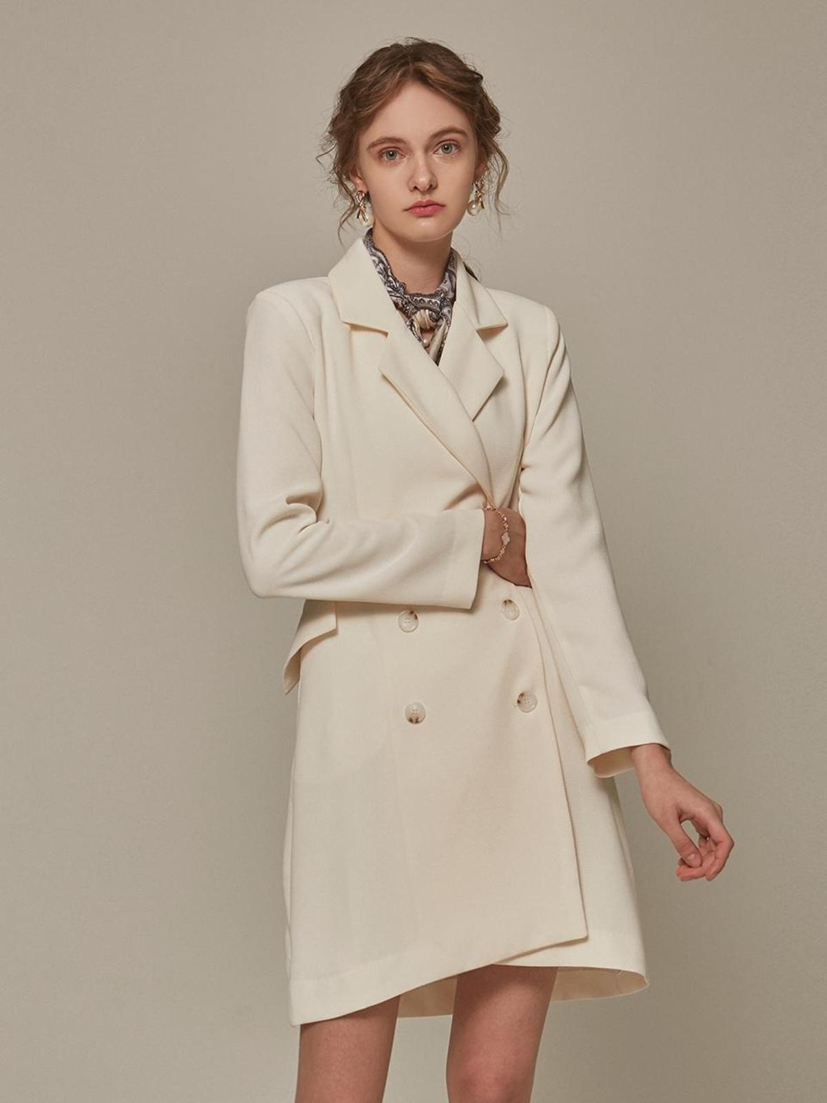 172 Cm 50 Kg yan13|^|double jacket dress ivory on garmentory
