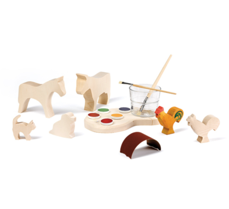 Kids Ostheimer Wooden Toys Creativity Kit with Paints