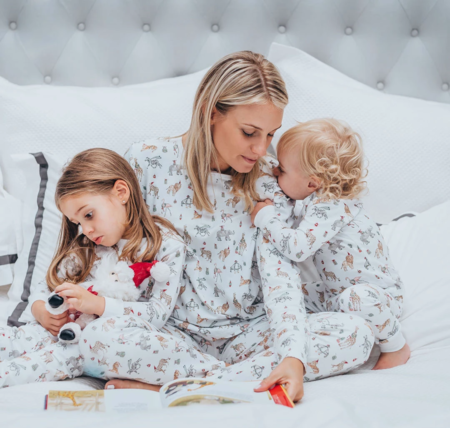 kids SAMMY + NAT Mom Pajamas - Holiday Safari