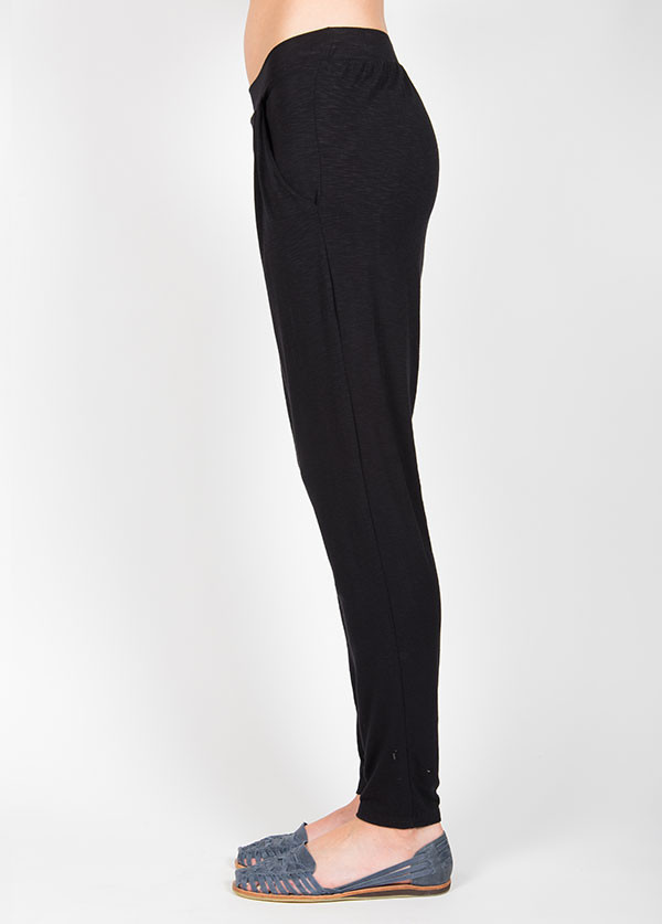 Dolan - Pleated Cross Front Pant in Black