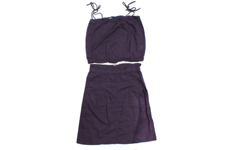 Pietsie Patmos Top and Skirt - Grape Check