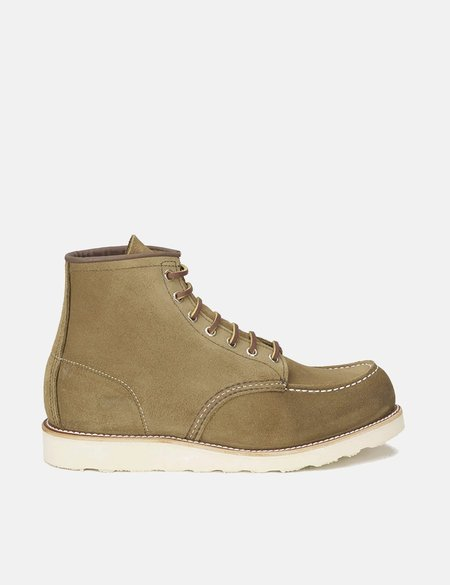 """Red Wing ShoesHeritage 6"""" Moc Toe Work Boots - Olive Green Mohave"""