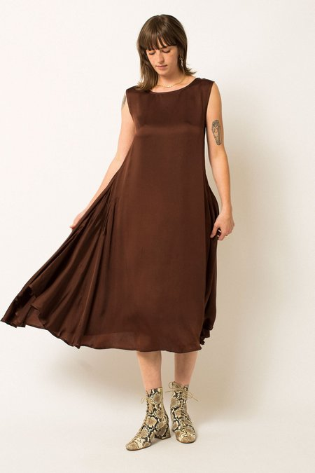 RUJUTA SHETH October Flare Dress - Umber