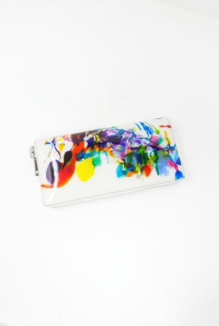 Macromauro Large Paint Wallet - White Multi