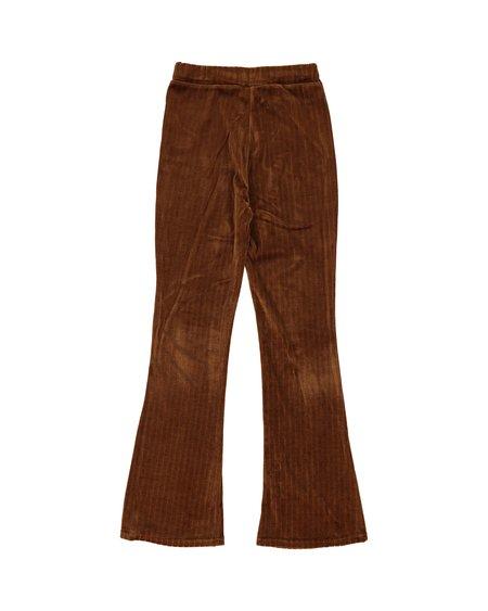 Rita Row Velvet Capri Pants - Brown