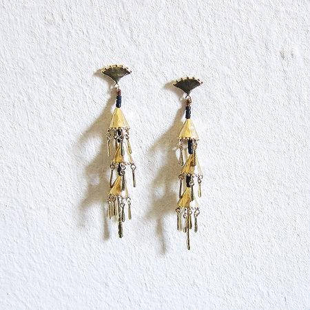 Satomi Studio indra earrings - brass