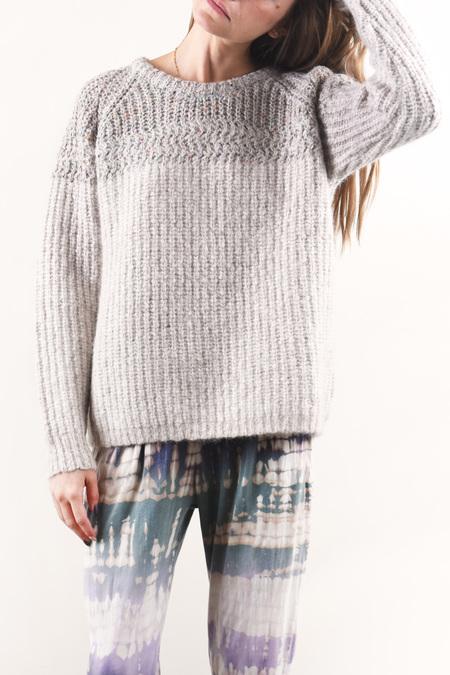 Raquel Allegra Raglan Crew Sweater - Oatmeal