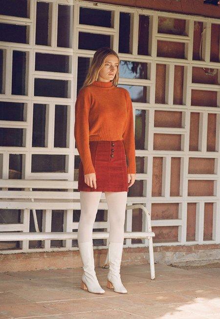Paloma Wool Disco Skirt - Wine