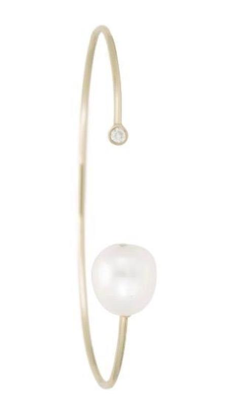 Ariel Gordon Baroque Pearl Duo Cuff - 14K Gold