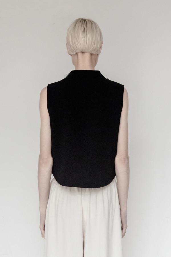 KAAREM Polyester Chime Collar Top