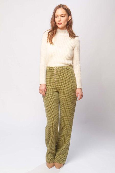 Paloma Wool Castelbuono wool pants - green check