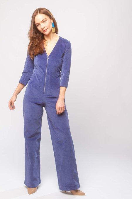 Paloma Wool Isle velvet jumpsuit - blue
