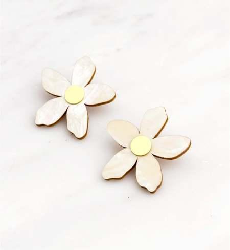 Matter Matters Gallery Orange Blossom Earrings - Pearl