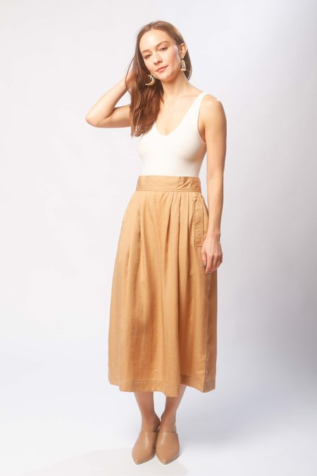 Micaela Greg Ellis pleated skirt - ecru