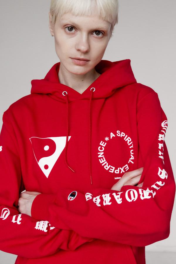 Men's Token Cotton Mosco Hoodie - Red