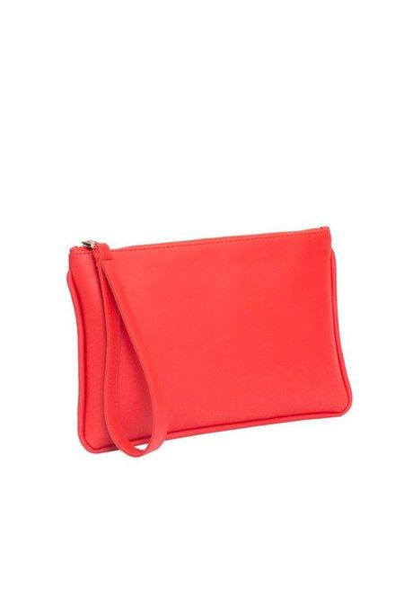 Hozen Zipper Clutch - Red