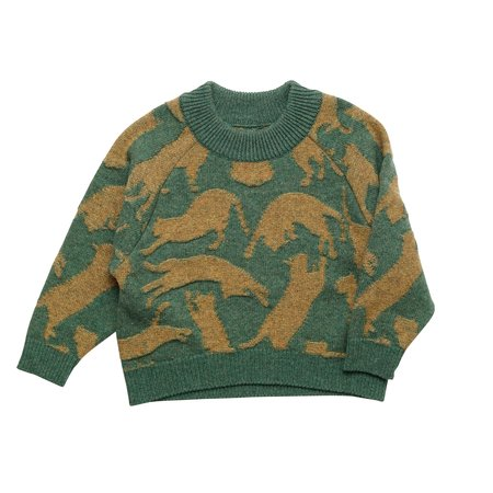KIDS East End Highlanders Cat Sweater - GREEN