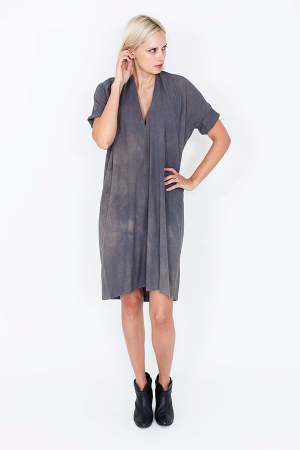 Miranda Bennett Muse Dress, Silk Noil in Coal