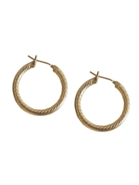 Laura Lombardi Etched Hoops - Gold